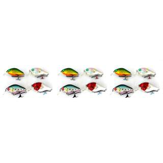 12 Floating minnow bream lures DC2C-F