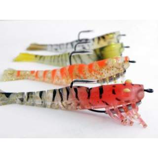 4 Kevlar Live Prawns 90mm Mixed Colour Pack